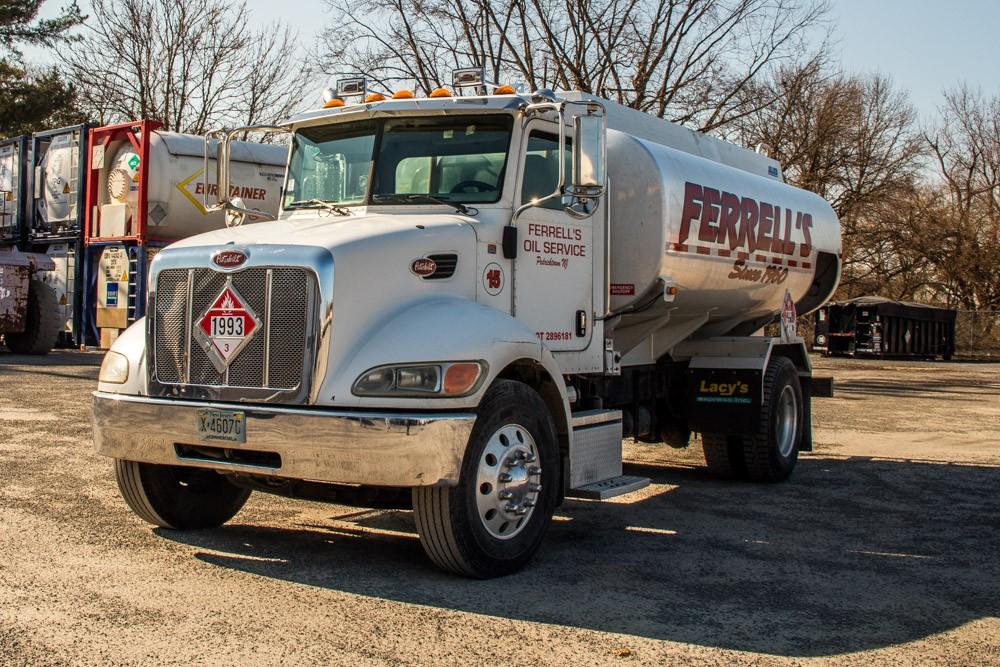 Ferrell Oil Truck in parking lot
